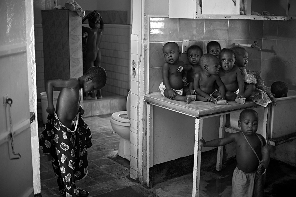 Home for malnourished children, Haiti