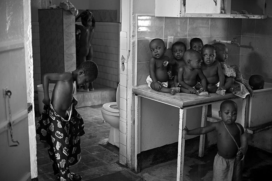 Home for malnourished children, Haiti