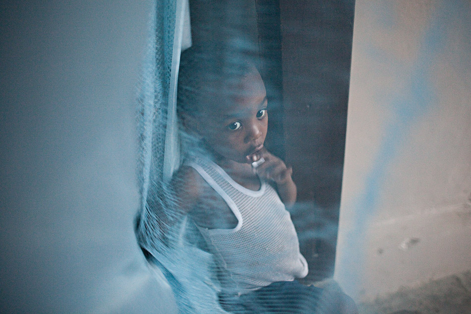 Displaced child, Haiti